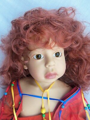 "Phillip Heath GOTZ 24"" Doll ALESSANDRA,Solid Box, 1992 Children of the World"