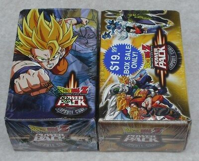 Score 2002  Dragonball Z Ccg Lot Of 4 Power Pack Capsule Corp Box New & Sealed