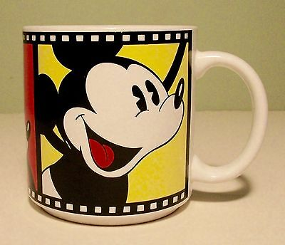 Disney's Mickey Mouse Film Reel Coffee Cup Mug Japan