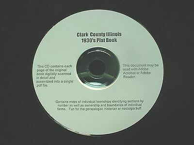 CD ~ 1930's Clark County Illinois Plat Map Book