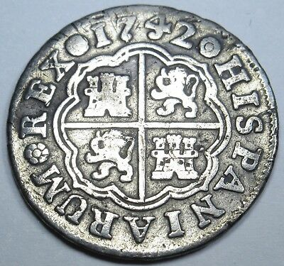 1742 Spanish 1 One Reales Coin Piece Of 8 Real Silver Pirate Shipwreck Treasure?