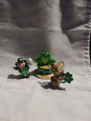 Hallmark Merry Mini 3Pc Set St Paddy's  Irish Frog Mouse Clover Bunny