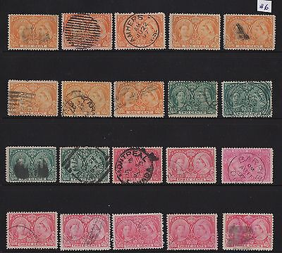 MOTON114   Lot #6 Jubilee stamps  Canada used