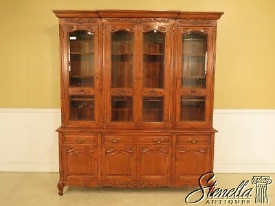 L41589E: GUY CHADDOCK Country French Beveled Glass China Cabinet
