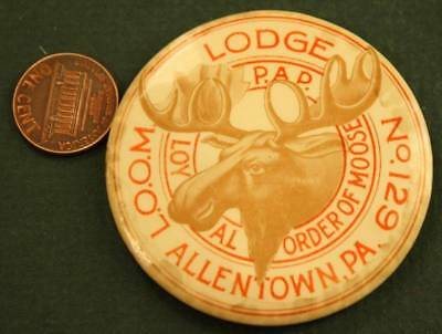 1910-20s Era Allentown,Pennsylvania Loyal Order of Moose # 129 pocket mirror!