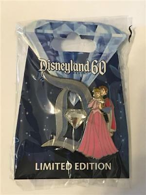 60Th Pin Of The Month- Diamond D- Aurora & Prince Phillip Le 3000 Disney 113735