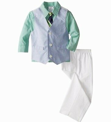 Boys IZOD outfit suit 2T 3T 4T 5 7 NWT Easter beach wedding white pant blue vest