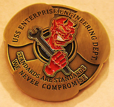 USS ENTERPRISE BIG E CVN-65 Engineering Department 2012 Final Deployment Coin