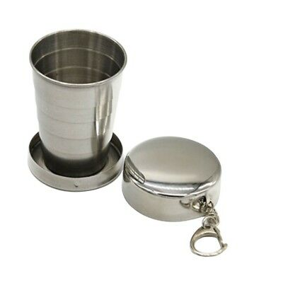 Portable Stainless Steel Retractable Folding Cup Telescopic Collapsible 1pcs Box