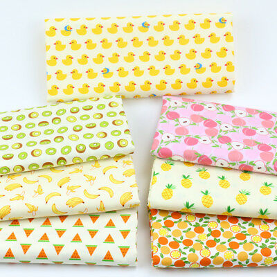 One PCS Cotton Fabric Pre-Cut Quilt Cloth Fabric for Sewing Fruits