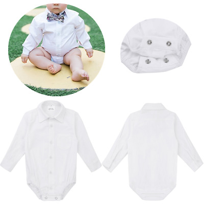 Reliable Baby Boy Smart Shirt Style Formal Bodysuit Body Shirt Long Sleeve 18-24months Baby & Toddler Clothing Clothing, Shoes & Accessories