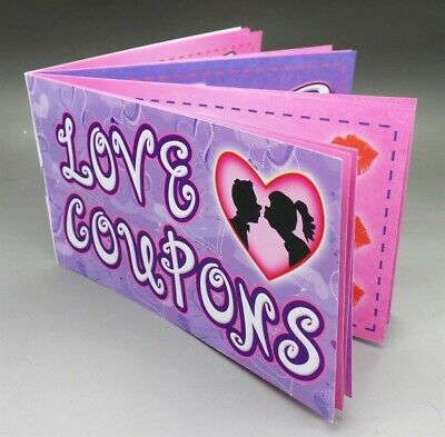 """Treat Your Partner With """"LOVE COUPONS"""" Book of 12 Coupons"""
