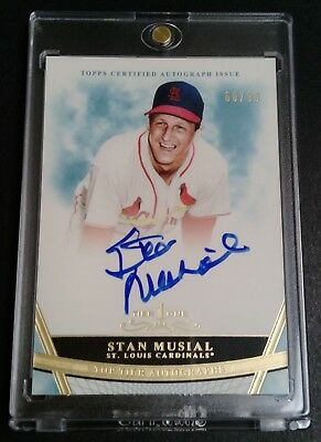 2011 Topps Tier One * STAN MUSIAL TIER ONE ON-CARD AUTO SP /99