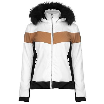 Nevica Womens Banff Ski Jacket Coat Top Waterproof Windproof Hooded Zip Full Fur