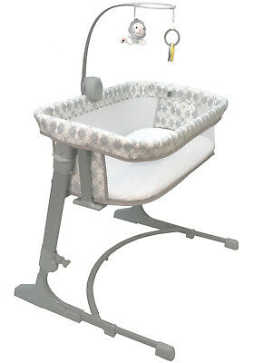 Arm's Reach Versatile Adjustable Infant Baby Co-Sleeper Bedside Bassinet Bliss
