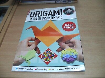 MB MagBook Origami Therapy Book: Relaxation, Ease Anxiety + 25 Sheets of Paper