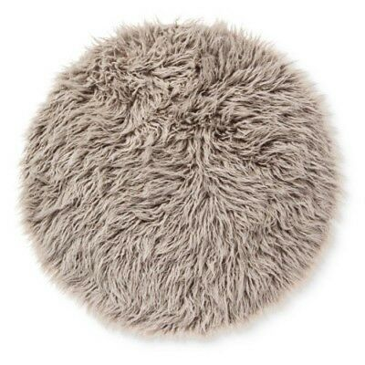 """NEW Pillowfort 3' Round Faux Fur Rug - Gray - Size:36""""x36"""""""