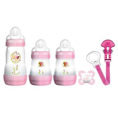 MAM Welcome to the World Set (Pink) Includes Anti-Colic Bottles