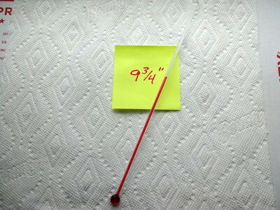 One 9 3/4 Inch Glass Replacement Thermometer Tube With Red Liquid