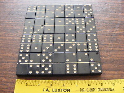 Vintage Black Extra Thick Bakelite? Dominoes