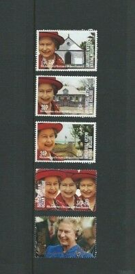 B.I.O.T 1992 UMM 40th Anniv of QEII Accession sg 119/123