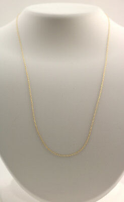 New 10K Yellow Gold .8 mm 18 Inch Rope Pendant Chain Necklace