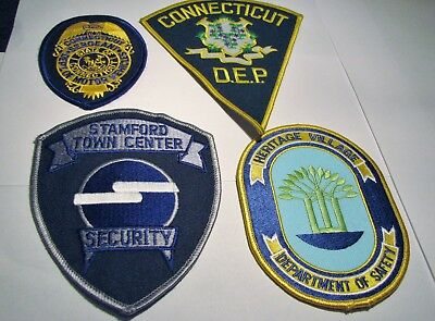 Lot of 4 PATCHES Police Security Sheriff Deputy Marshall CONNECTICUT