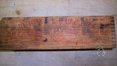 Vintage Industrial Antique Wood Mayflower's Cream Cheese Box Advertisement