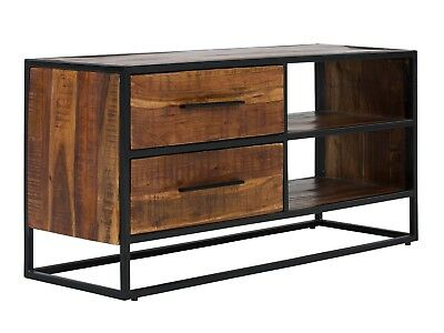 tv bank metall lowboard tv bank 160cm antik holz metall. Black Bedroom Furniture Sets. Home Design Ideas