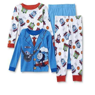 Thomas The Train Conductor Pajamas Size 2T 3T 4T New!