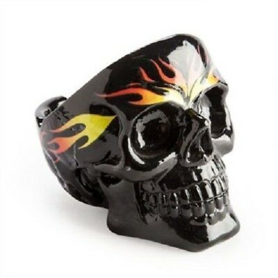 """HOT FLAMES BLACK SKULL ASHTRAY"" For Something A Little Different"