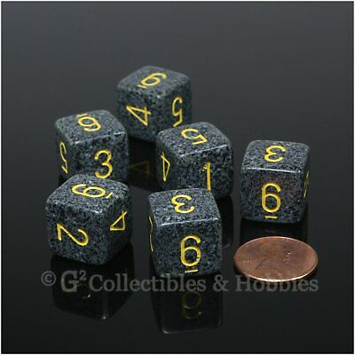 /'Golden Recon/' Speckled Dice Chessex Set of 5 New 2g Six Sided 12mm