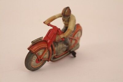 Technofix Motorrad G.E. 258 Tin Wind-up Motorcycle Continental Record Tin Toy
