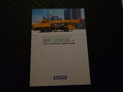Kato Nk-250E-V Fully Hydraulic Truck Crane Specification Brochure *as Pictures*