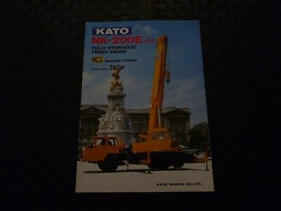Kato Nk-200E-Iii Fully Hydraulic Truck Crane Specification Leaflet *as Pictures*