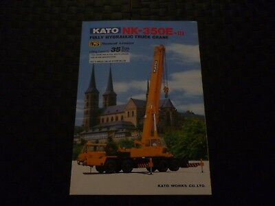 Kato Nk-350E-Iii Fully Hydraulic Truck Crane Specification Leaflet *as Pictures*