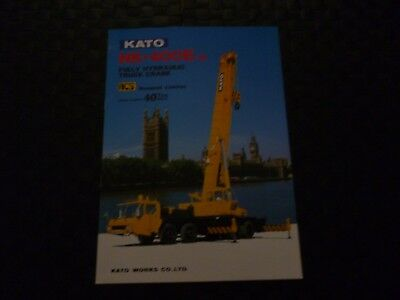 Kato Nk-400E-Iii Fully Hydraulic Truck Crane Specification Brochure *as Pictures