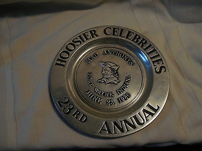 Vintage Mad Anthony's pewter collectors plate Mad Anthony 1980 wilton pewter