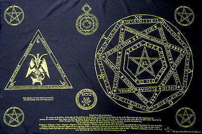 Schwarze Magie Black Magic Flagge Fahne Posterflagge Behemoth Okkult Pentagram