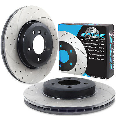 FRONT DRILLED GROOVED 325mm BRAKE DISCS FOR BMW E46 SALOON TOURING COUPE