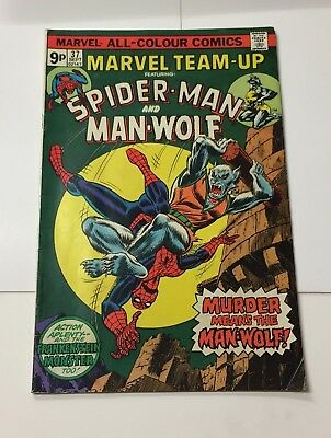 Marvel Team-Up ft Spider-Man and Man-Wolf #37 September 1975 Bagged Marvel Comic