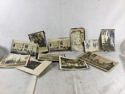 Antique Lot Of 11 Places & Buildings Photos Some Identified 1910's~20's