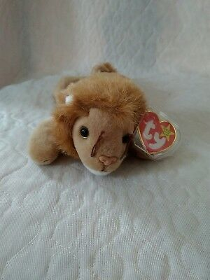 "TY 1996 Beanie Baby ROARY THE LION 9"" Bean Bag STUFFED ANIMAL Toy"