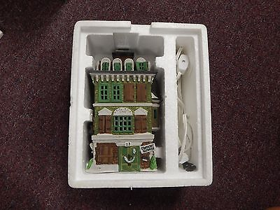 Dept 56 Holiday Dickens Village 1989 THE FLAT OF EBENEZER SCROOGE BLDG, w Box