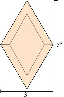 3x5 Diamond Stained Glass Bevels - Box of 30 - PEACH