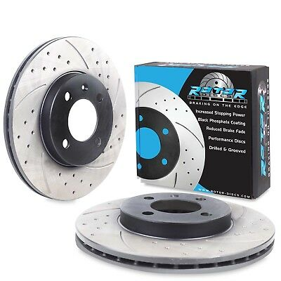 NEW FRONT DRILLED GROOVED 256mm BRAKE DISCS FOR SEAT TOLEDO CORDOBA INCA