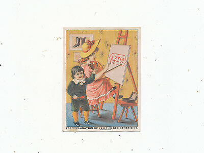 C7454  Victorian Trade Card  L.p Hersey  Boots Shoes Augusta Maine