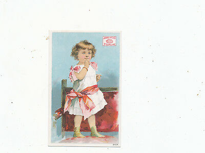 C7523    VICTORIAN TRADE CARD  james pyles pearline  SOAP GIRL VARIETY EYE REVER