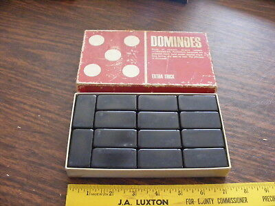 Vintage Puremco Extra Thick Black Dominoes