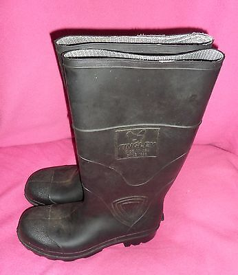 """TINGLEY Rubber 14"""" Black Boots Mens Size 7 or Womens Size 9 Made in U.S.A.- NEW"""